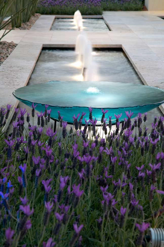 Lavender Flower with Water Feature