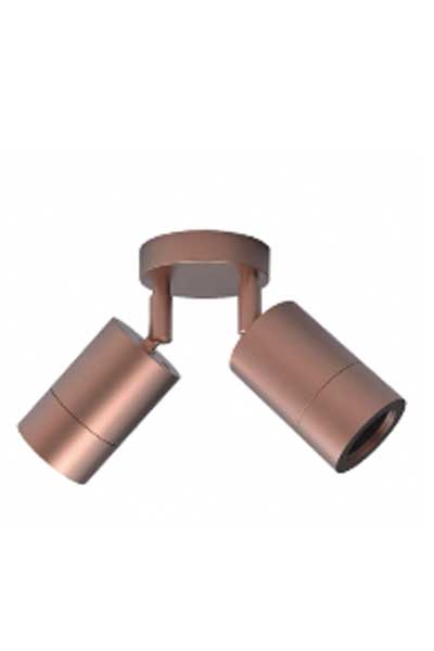 Double Copper Wall Light